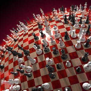 3D Chess Board wallpaper