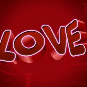 3D Love wallpaper