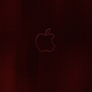 Apple in Red wallpaper