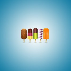 Colorful Icecreams wallpaper