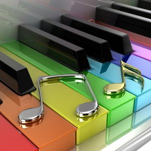 Colorful Piano wallpaper