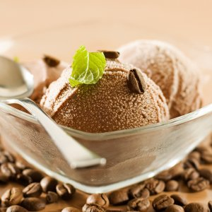 Ice Cream With Coffee Beans wallpaper