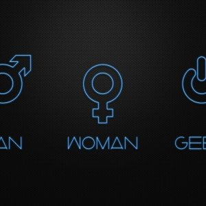 Man Woman Geek wallpaper