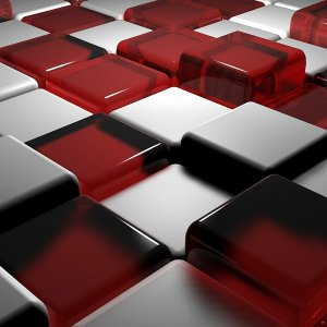 Red White Cubes wallpaper