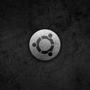Ubuntu Symbol in steel wallpaper