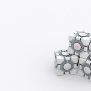 White Cubes wallpaper