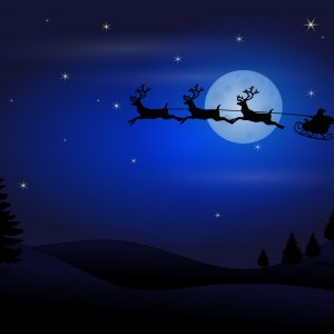 xmas moon wallpaper